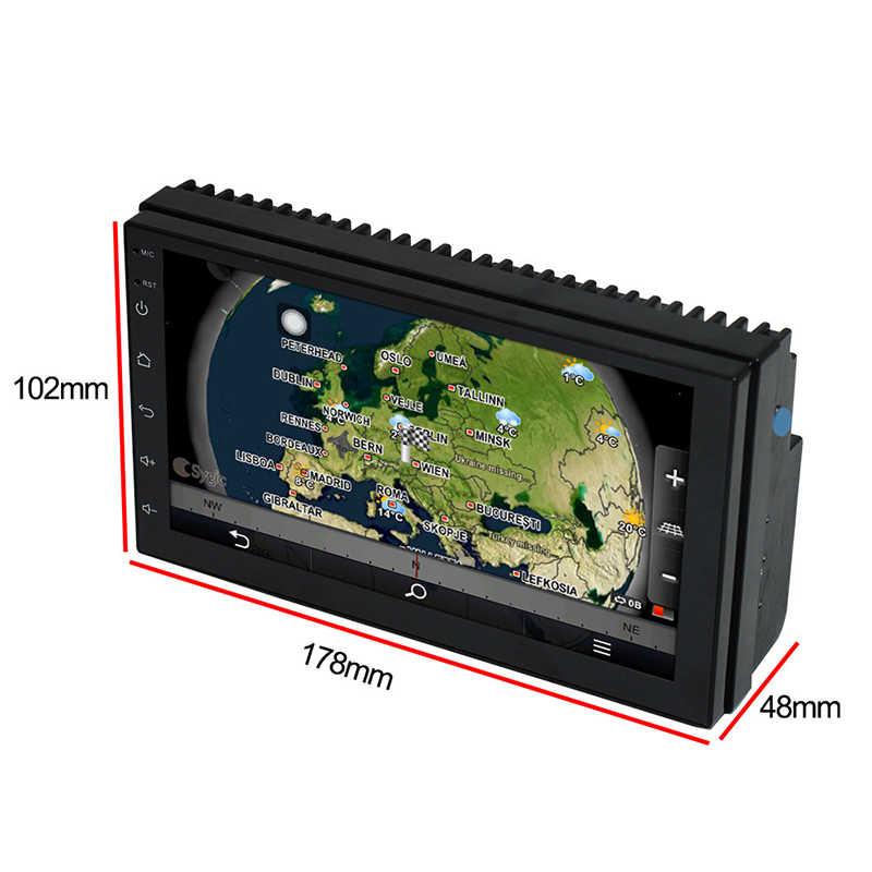"""2 Din Xe Đài Phát Thanh GPS Android 8.0 Phổ Đa Phương Tiện Video Player 7 """"2din Xe MP5 Player GPS NAVIGATION WIFI bluetooth Không Có DVD"""