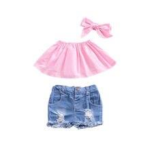 Однотонная футболка для маленьких девочек топы, топы без рукавов, футболки летний обычный Тройник, хлопковый костюм от 0 до 24 месяцев