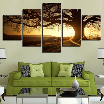 Modular Painting Canvas Wall Art Pictures Home Decoration 5 Pieces Modern Musical Instrument Guitar Living Room Poster