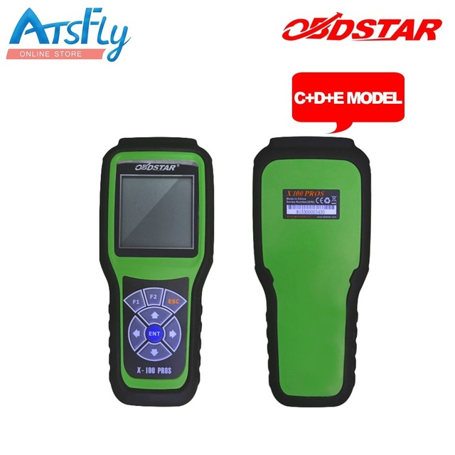Free shipping OBDStar Auto Key Programmer X100 PROS C + D +E model x-100 pros Odometer correction tool diagnostic tool