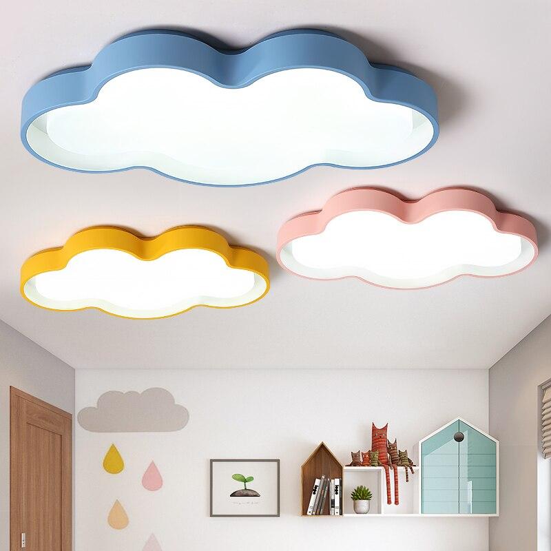Macarons color Clouds LED Ceiling chandelier Modern led Chandelier lighting kids room bedroom Home Decoration lustres
