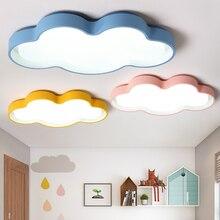 Macarons цвет облака светодиодный потолочная люстра современный светодиодный люстры детская комната спальня украшения дома люстры para sala