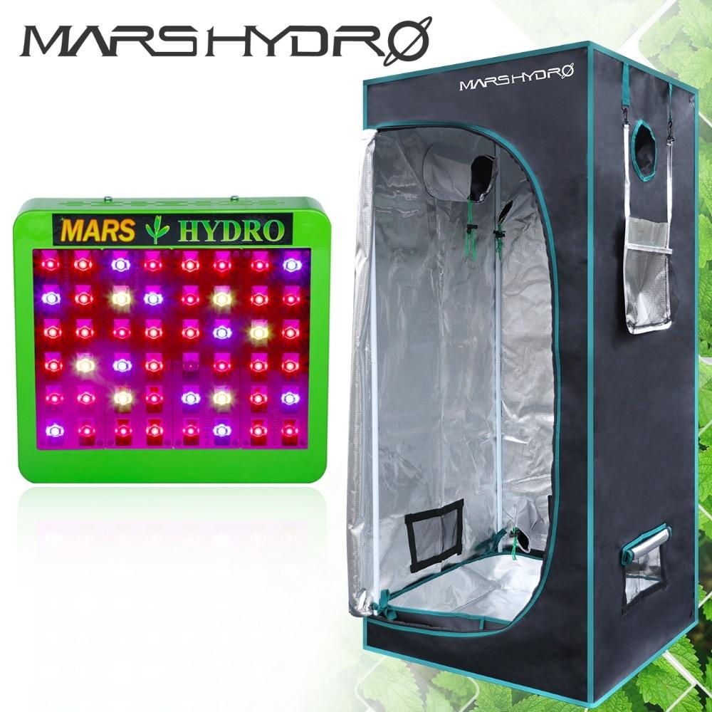 Mars Hydro Réflecteur 240 w LED Élèvent La Lumière Plein Spectre Commutateurs + 70*70*160 cm grandir tente