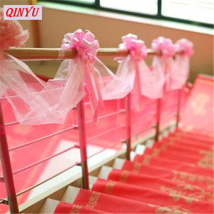 Image 4 - Creative 48CM*5M Multicolor Crystal Organza Tulle Yarn Roll Fabric Wedding Background Home Party Decoration Accessories 5z