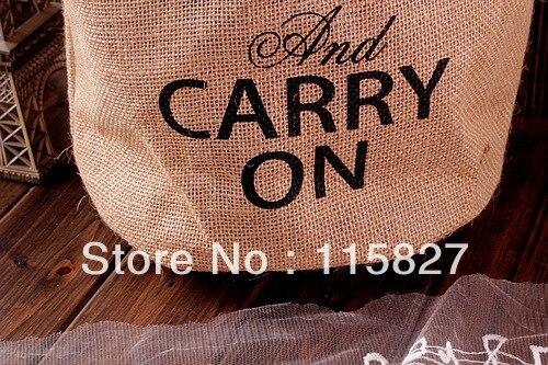 Min order$20(mixed item) England style carry on bag storage case linen storage bag desk organizer shopping bag