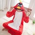 Unisex autumn winter pajamas 2016 cartoon pyjamas women birds onesie flannel sleepwear pajamas for women men adult child