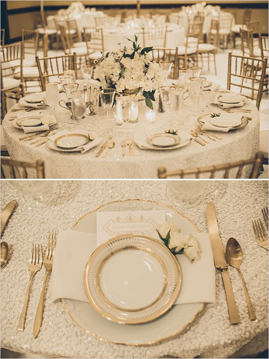 Wholesale 10pcslot Rectangle Sequin Tablecloth 90x156inch White