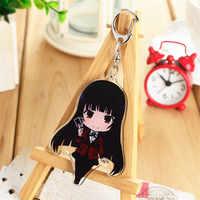 Anime Kakegurui: Zwanghaften Gambler Jabami Yumeko Acryl Schlüsselanhänger Schlüssel Ring Cartoon Abbildung Charms Anhänger Mädchen Sammlung Prop
