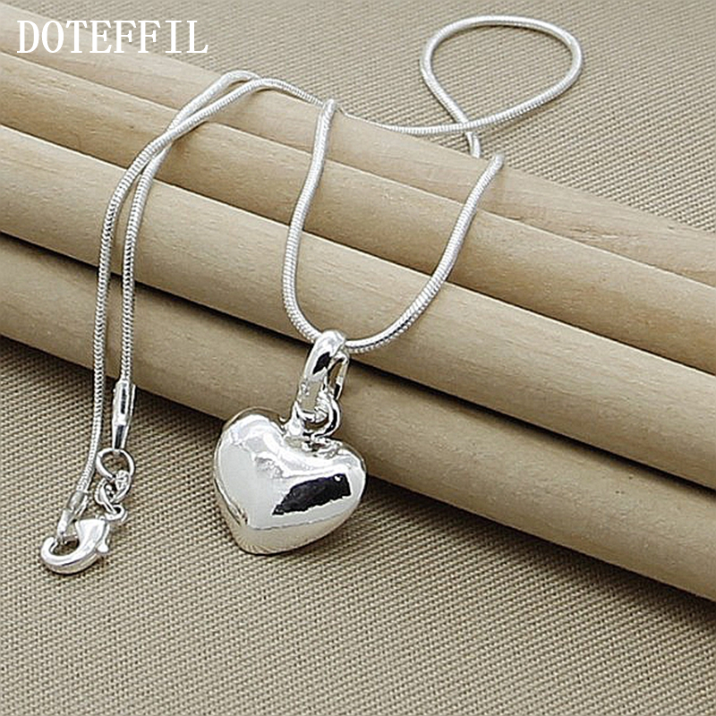 Grosir 925 Sterling Silver Kalung Fashion Perhiasan Jantung Liontin - Perhiasan fashion - Foto 3