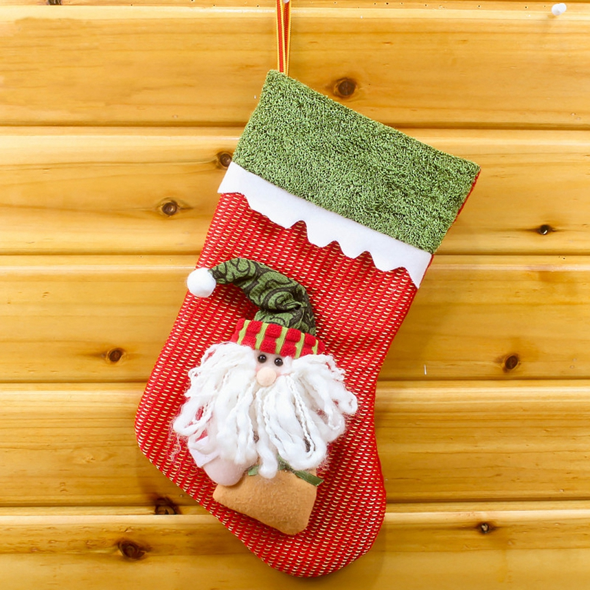 New Arrive Santa Claus Snowman Christmas Stockings Decoration Tree Ornaments Christmas Candy Bags Gift Holders for Childrens
