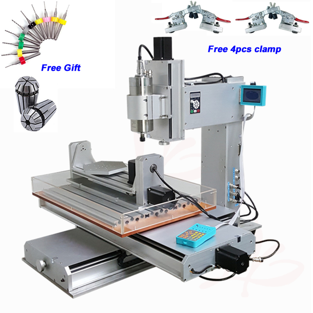 2200W 5 Axis Vertical CNC Router Engraver 6040 1.5KW 2.2KW Water Cooled Spindle Motor CNC Milling Machine with Water Tank