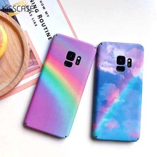 KISSCASE Rainbow Pattern Case For Samsung Galaxy Note 8 9 S8 S9 Hard Matte Colorful Case For Samsung Galaxy S8 S9 Plus S7 Covers(China)