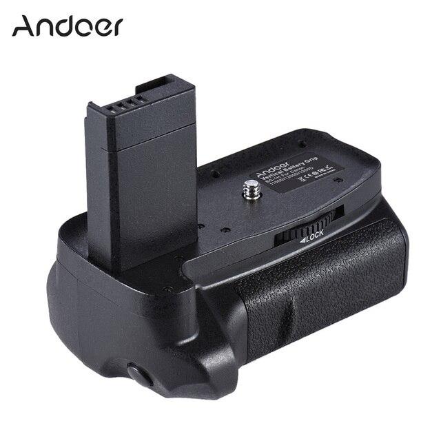 Canon EOS 1100D 1200D 1300D / Rebel T3 T5 T6 DSLR 카메라 용 2 * BG 1H 배터리 그립 용 Andoer LP E10 수직 배터리 그립