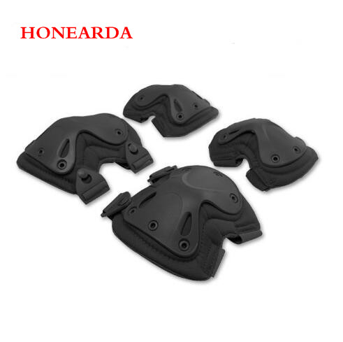 100set/lot Outdoor Mountaineering Protector Tactical Knee Protector And Elbow Protector Sports Protector