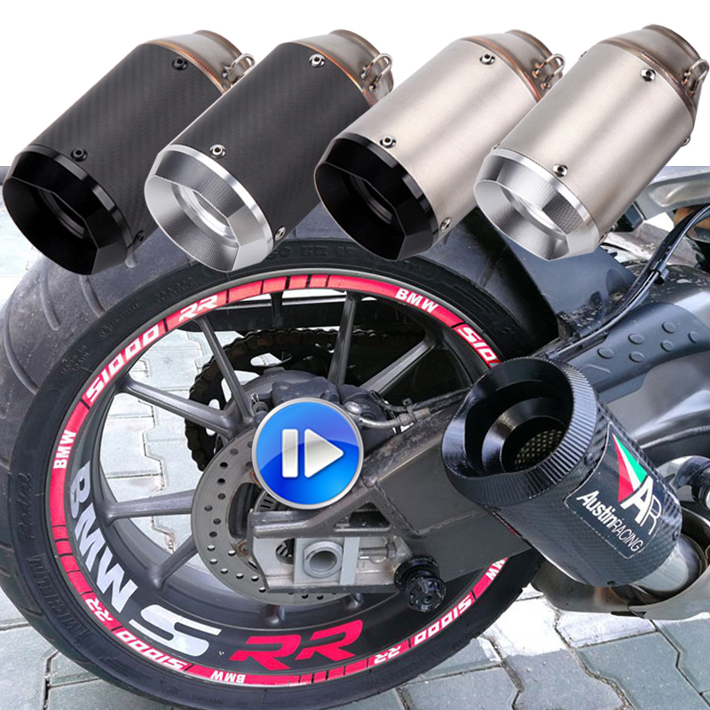 Escape-System Exhaust-Pipe Moto Carbon-Fiber Db-Killer 51mm Universal ER6N Z1000 GSXR600