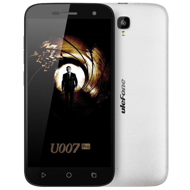 Ulefone U007 Pro 5.0 Inch 4G Smartphone Android 6.0 MTK6735 Quad Core 1.0GHz Mobile Phone 1GB+8GB HD Screen 13.0MP Cellphone