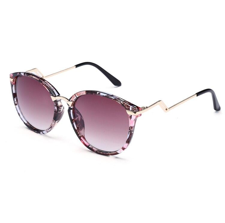 Laura Fairy Fashion Print Frame Polyline Leg Women Sunglasses Gradient UV400 Summer Style Vintage Eyewear font