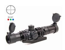 Promo offer Mil-Dot Tactical Monocular Telescope 1.5-4×30 Compact Shooting Riflescope Illuminated Chevron Red Dot Sight Free Mount shipping