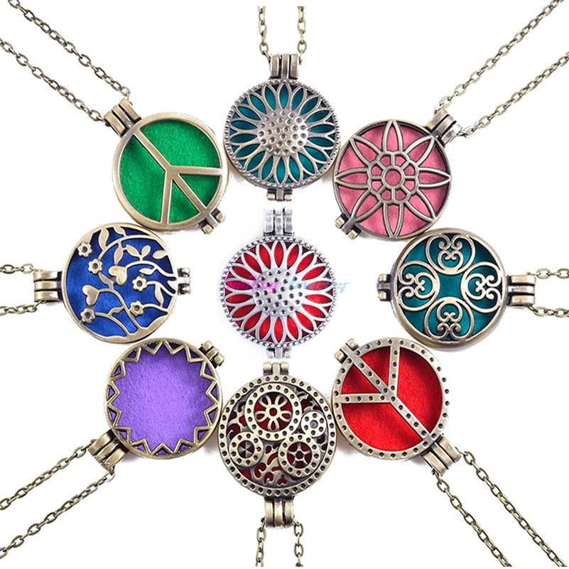 1 unids Collar Abierto Antigüedad de La Vendimia Colgante Medallones Perfume Dif
