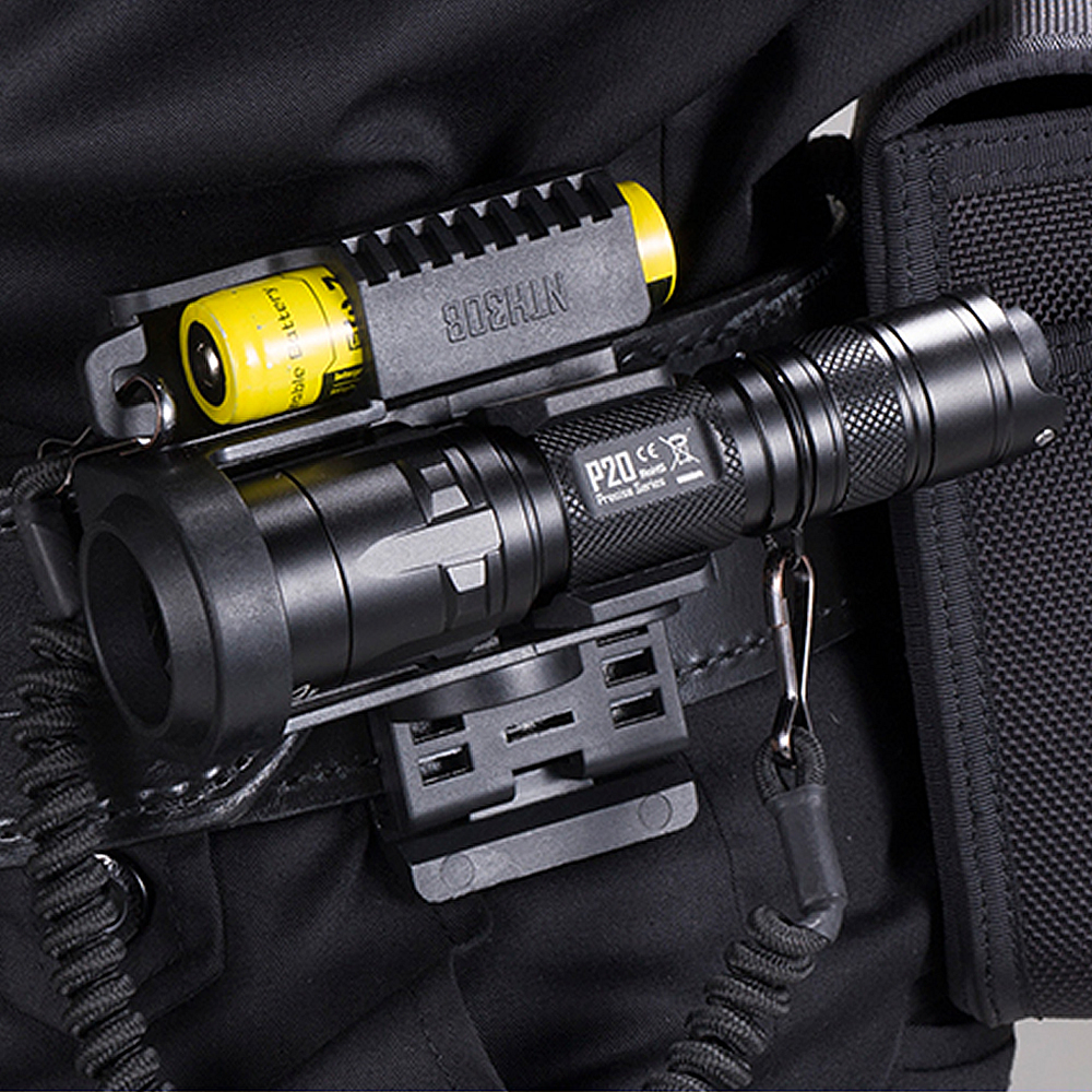 NITECORE P20 Tactical LED Flashlight Waterproof 18650 Outdoor Camping Hunting Portable With NTH30B + 2300mah Battery package nitecore ec20 cree xm l2 t6 led flashlight 960lumen waterproof 18650 outdoor camping hiking hunting portable torch free shipping