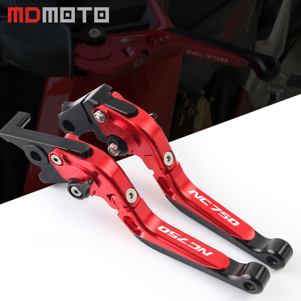 Motorcycle Adjustable Folding Extendable Brake Clutch Levers For Honda NC750 S/X NC750S NC750X 2016 2017 2018 clutch&brake lever billet alu folding adjustable brake clutch levers for motoguzzi griso 850 breva 1100 norge 1200 06 2013 07 08 1200 sport stelvio