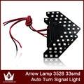 Noite Senhor 2 pçs/lote 33-SMD 3528 levou Sequential led Arrows luz para Side Car Espelho Turn Signal Luzes Frete grátis