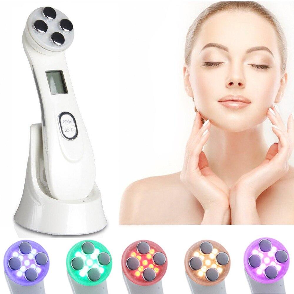 Électroporation Mésothérapie LED Photon RF Radio Fréquence EMS Peau Rajeunissement Lifting Serrer Massage Beauté Machine