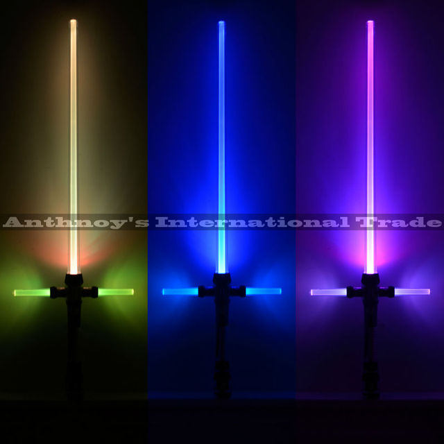 Kylo ren sword Star Wars Lightsaber With Light & Sounds 7 color changing Laser Sword Toys Cosplay Weapons Sabers