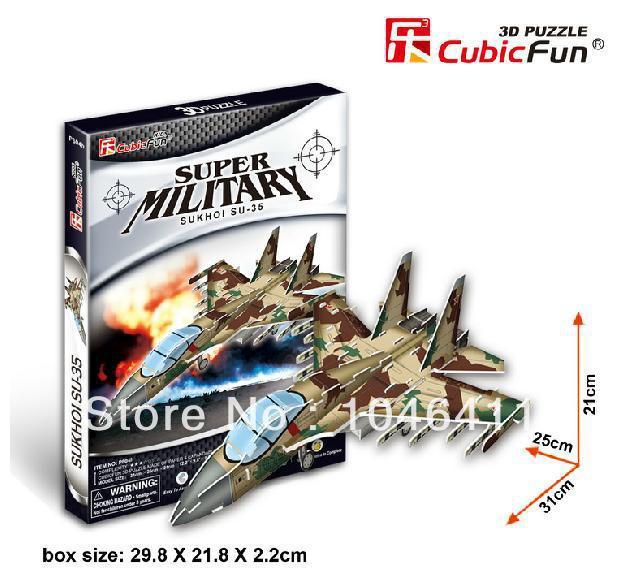 SUKHOI SU-35 CubicFun 3D educational puzzle Paper & EPS Model Papercraft Home Adornment for christmas gift wat phra kaew cubicfun 3d educational puzzle paper