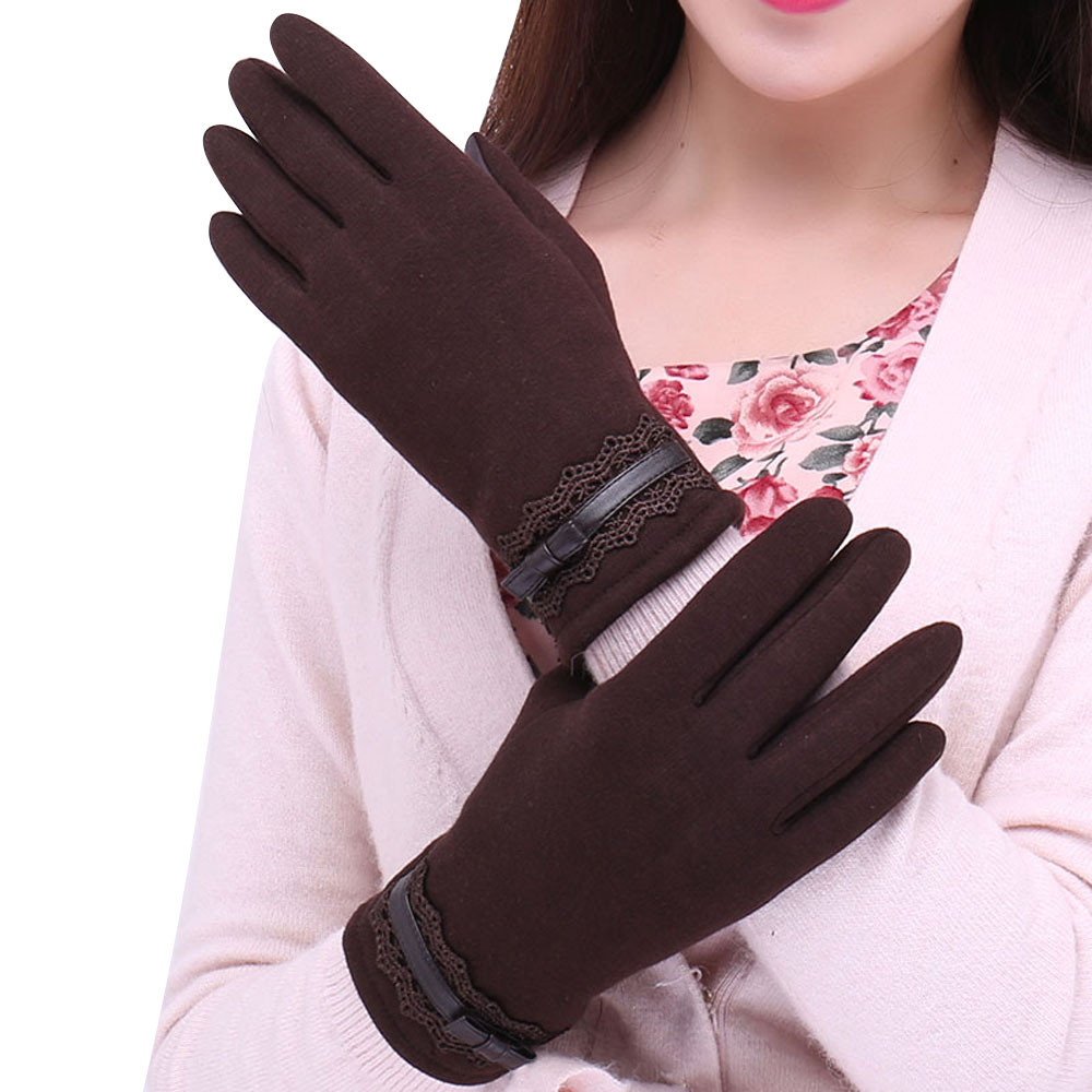 FEITONG Fashionable and Warm Women Touch Screen Gloves with a Special Conductive Fiber Allowing to Full Navigation Control of Touch Screen Device 1