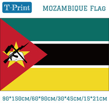 Free shipping 30*45cm Car Flag 90*150cm/60*90cm/15*21cm Mozambique National
