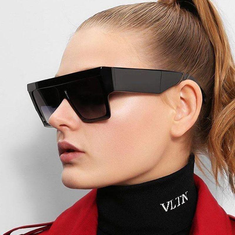 Men and Women Fashion Large Square Sunglasses 2018 Designer Retro Mirror Frame UV400 Sunglasses Unisex Cool Eyewear X1