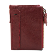 New RFID Wallet Genuine Leather wallet with removable card slots multifunction men purse male clutch billetera hombre