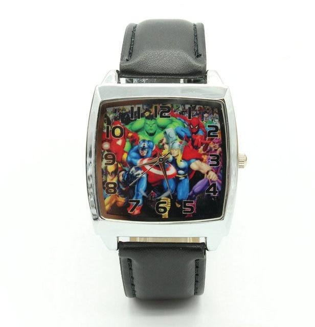 Super Hero Marvel avengers Captain America Boy Child Fashion Watch Xmas Gift