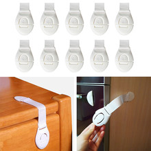 10 Pcs/Lot Plastic Child Lock Children Protection Baby Safety Infant Security Window Lock Door Interlocks Fridge Lock for Child(China)