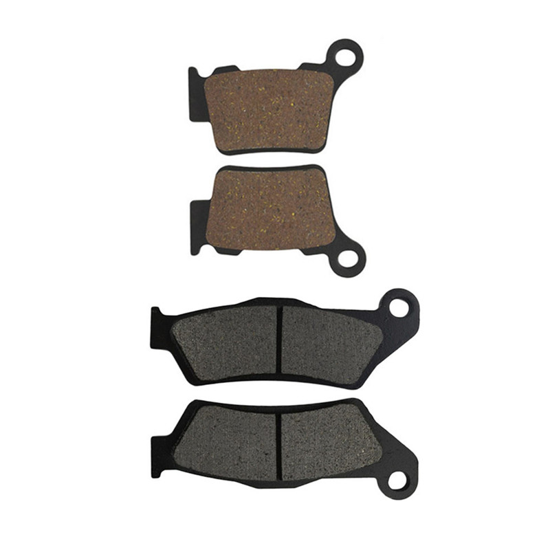 Motorcycle Front & Rear Brake Pads Kit for KTM XC200 04-08 XC250 EXC250 EXC125 04-07 SX125 04-14 SX250 03-08 Upside down forks ceramic composite brake pads fit for rear motocross ktm exc 125 250 1995 2003 200 exc egs 1998 2003 motorcycle accessories