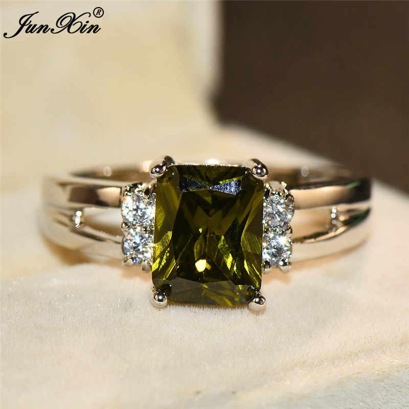 Милые женские красные желтое кольцо с камнем модные 925 пробы серебряные свадебные ювелирные кристаллы обещания обручальные кольца для женщин
