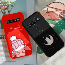 ASINA Cute Animal Case For Samsung Galaxy S10 Silicone Cover 3D Relief Bumper Plus 10Lite S10e Phone