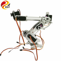 6 DOF Robot Arm For Arduino Control Kit Aluminium Clamp Claw Machinery Mechanical Metal Stainless Steel