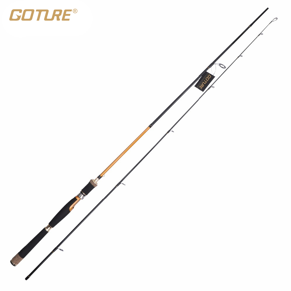 ФОТО Goture Brand Spinning Fishing Rod Medium Fast Action 2.1 M 2.4 M Lure Fishing Rod For Winter Bass Trout Fishing