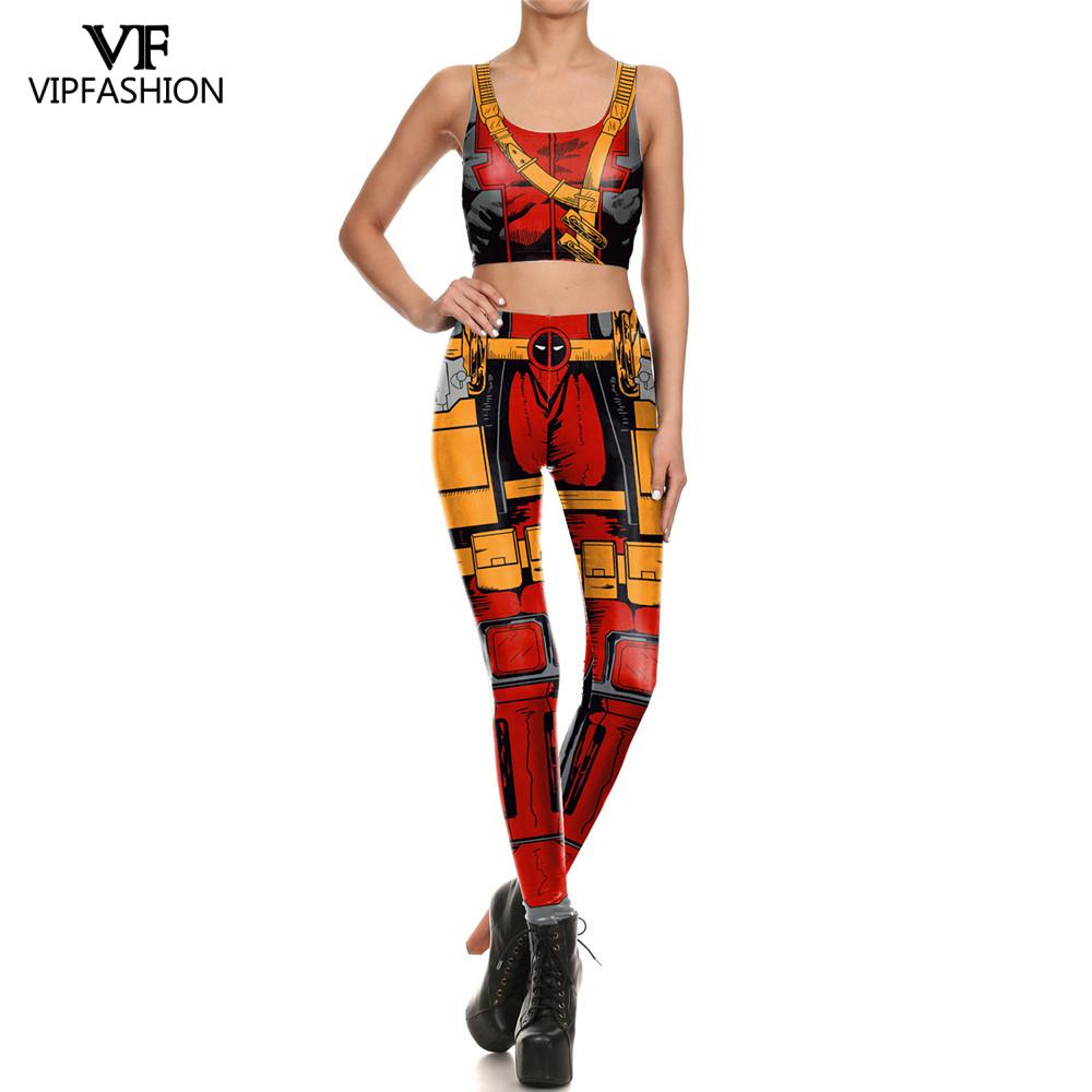 VIP FASHION 2019 New Arrivals Marvel Women Leggings 3D Printed Hero Suits Legging Workout Fitness Sports Leggings For Ladies