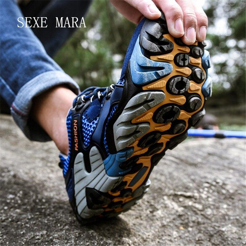 2017 размеры: 35–46 Спорт на открытом воздухе Обувь мужчин Спортивная обувь Бег Обувь для мужчин нескользящая внедорожных бег ходьба кроссовки...