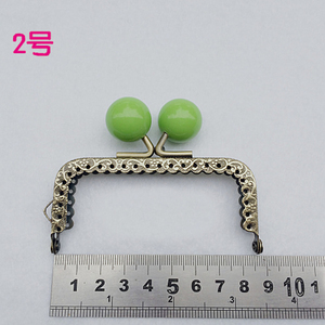 Image 2 - 8.5cm colorful candy ball kiss buckle mini straight knurling purse frame coin bag making metal clasp hardware 10pcs/lot