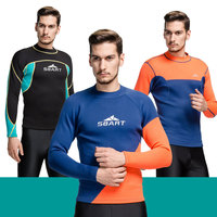 2mm Neoprene Wetsuit Long Sleeve T Shirt 3 Styles for Selection M L XL 2XL 3XL for Men Swimming Surfing Diving Jacket Top