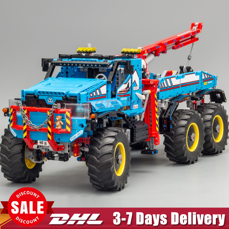 DHL IN STOCK Lepin 20056 1912Pcs The Ultimate All Terrain 6X6 Remote Control Truck Set Building Blocks Bricks Toys Model 42070 dhl lepin 18032 2932 pcs the mountain cave my worlds model building kit blocks bricks children toys clone21137 in stock