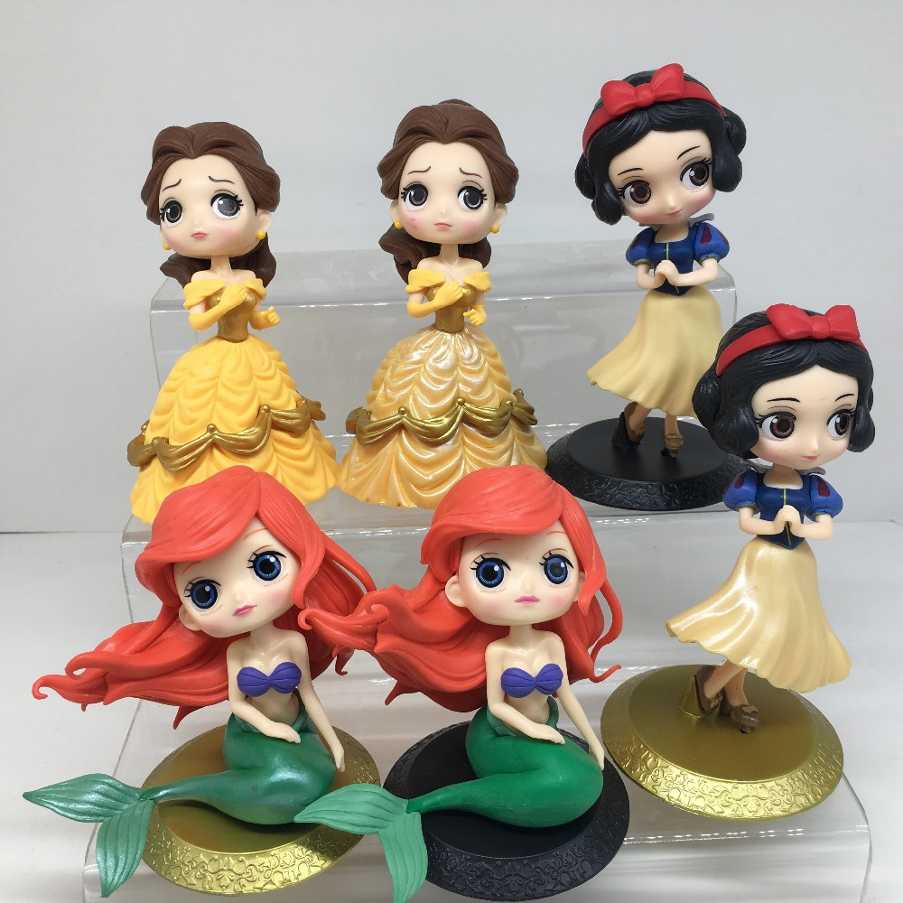14cm Q posket Beauty and the Beast Belle Little Mermaid PVC Figure Model Toy Princess Doll Gift for Girls q posket beauty and the beast belle pvc figure model toy princess doll gift for girls 13cm