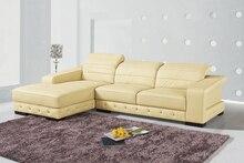 Genuino / real de sala sofá de cuero sofá seccional / esquina muebles para el hogar sofá sofá / en forma de L reposacabezas funcional ajustable