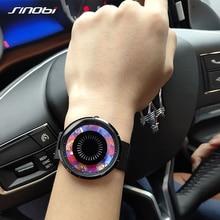 Sinobi Relojes de lujo de acero inoxidable para Mujer, reloj de pulsera Unisex, creativos, de cuarzo