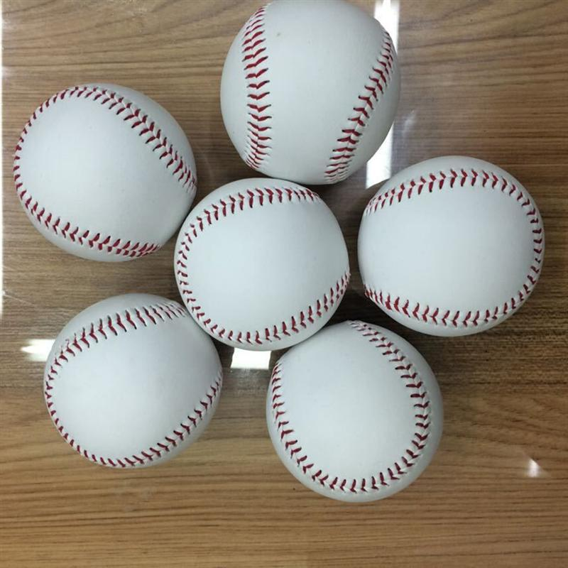 Helpful 2pcs 9-inch Pvc Practice Baseball For Students And Beginner (white) Curing Cough And Facilitating Expectoration And Relieving Hoarseness