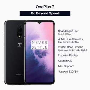 "Image 2 - חמצן הגלובלי ROM Oneplus 7 Snapdragon 855 אוקטה Core Smartphone 6.41 ""AMOLED מסך 48MP כפולה אחורי מצלמת 16MP קדמי NFC נייד"
